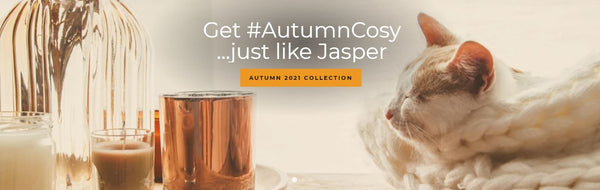 Autumn scented candles, reed diffusers & wax melts collection 2021