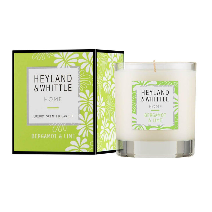 Bergamot & Lime Large Scented Candle by Heyland & Whittle - 230g - www.wicksandreeds.com