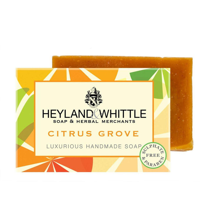 Citrus Grove Handmade Organic Soap Bar by Heyland & Whittle - 120g - www.wicksandreeds.com