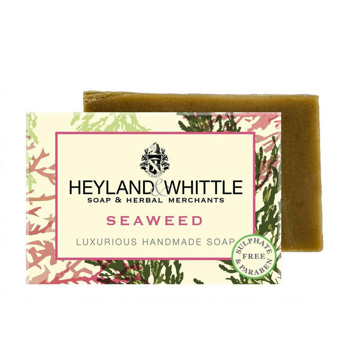 Seaweed Handmade Organic Soap Bar by Heyland & Whittle - 120g - www.wicksandreeds.com