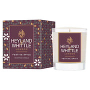 Festive Spice scented Christmas candle in glass by Heyland & Whittle - www.wicksandreeds.com