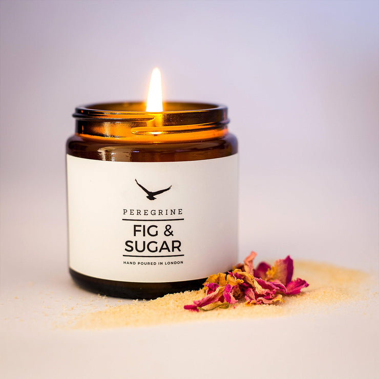 Fig & Sugar Handpoured Natural Soy Candle - www.wicksandreeds.com