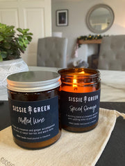 Spiced Orange & Mulled Wine - 2 Candle Gift Set - Handmade Soy Wax Candles
