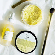 Glow Facial Clay Mask - Orange Peel & Turmeric - www.wicksandreeds.com