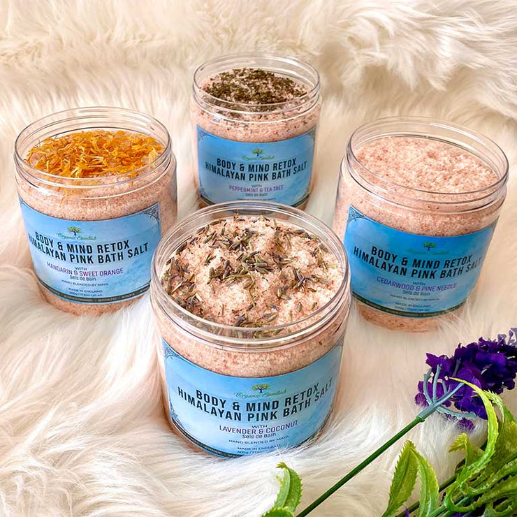 Himalayan Pink Bath Salts - Lavender & Coconut - Made in England