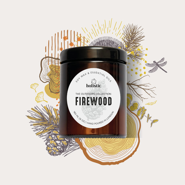 Firewood -Handpoured Soy Wax Vegan Candle Made in London