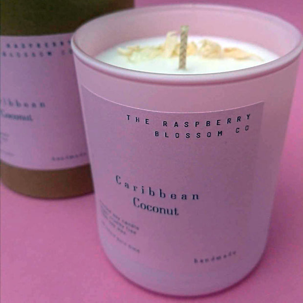 The Pink Collection - Raspberry Blossom & Vanilla 40 Hour Soy Candle