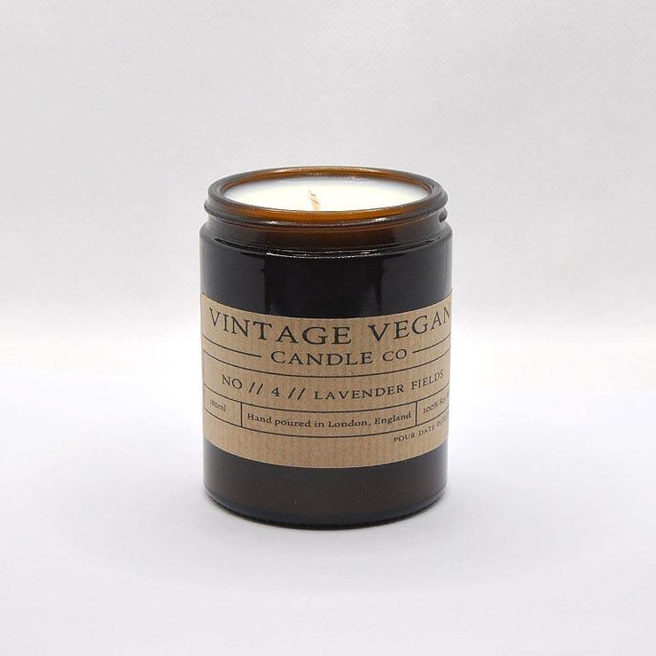 2 Candles Vegan Gift Set - Smoked Sage with Sea Salt & Lavender Fields - www.wicksandreeds.com