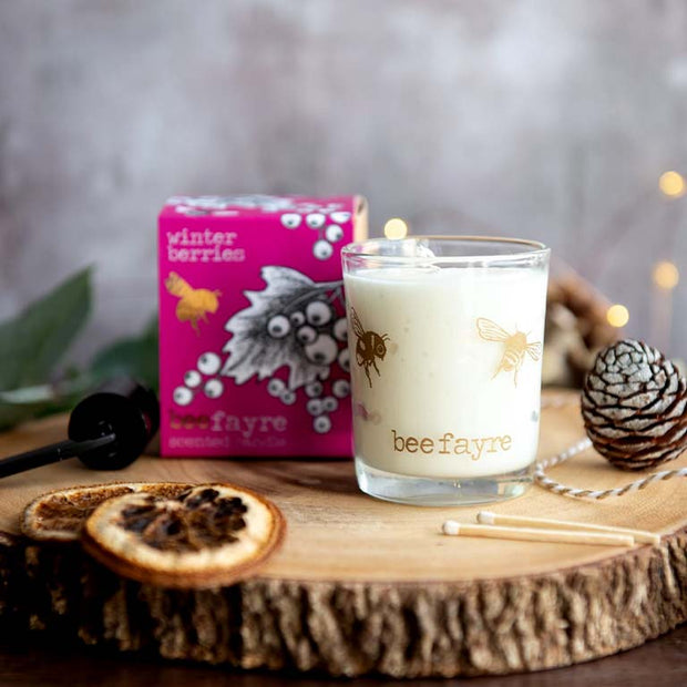 Winter Berries Votive Candle Made With Essential Oils