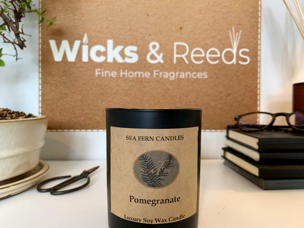 Spiced Plum & Pomegranate Woodwick Candle Handmade in Scotland