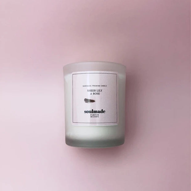 Sheer Lily & Rose Handpoured Smokeless Cotton Wick Candle