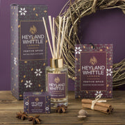 Festive Spice scented Christmas reed diffuser by Heyland & Whittle - www.wicksandreeds.com