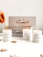Christmas 3 Candle Gift Set - Handmade in Britain - www.wicksandreeds.com