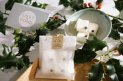 Clementine & Clove Scented Christmas Soy Wax Candle with Wood Wick in Gift Tin - www.wicksandreeds.com