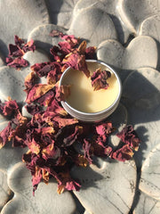 English Rose & Chamomile Handmade Beeswax Lip Balm - www.wicksandreeds.com