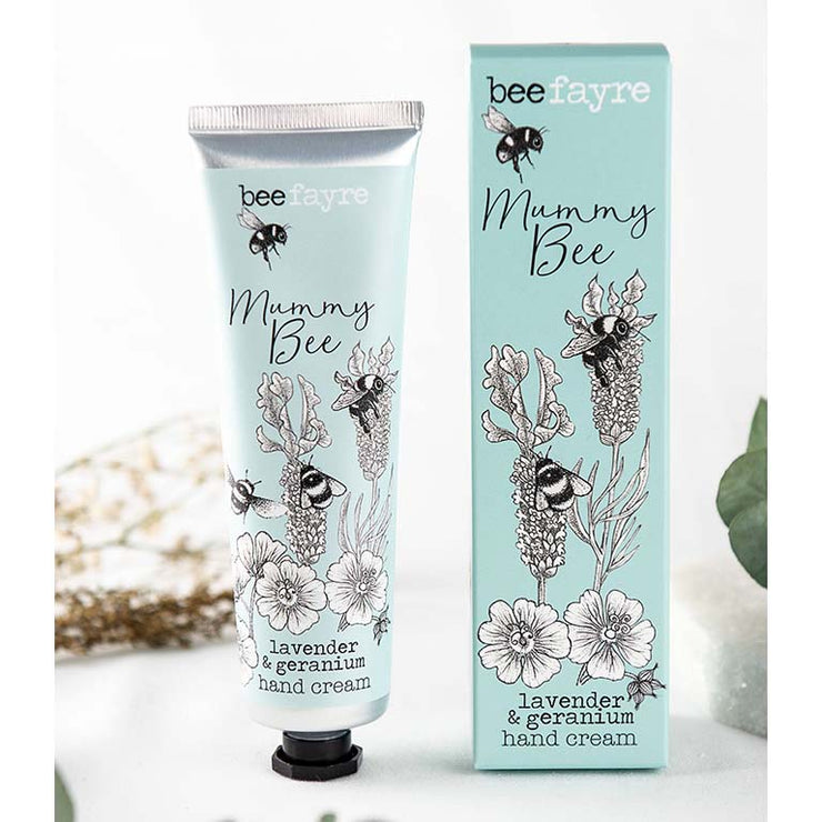 Lavender & Geranium Hand Cream With Natural Oils - Handmade in England by BeeFayre