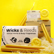 Pure Beeswax Taper Dining Candles - Handmade in Devon - 5 Sizes Available