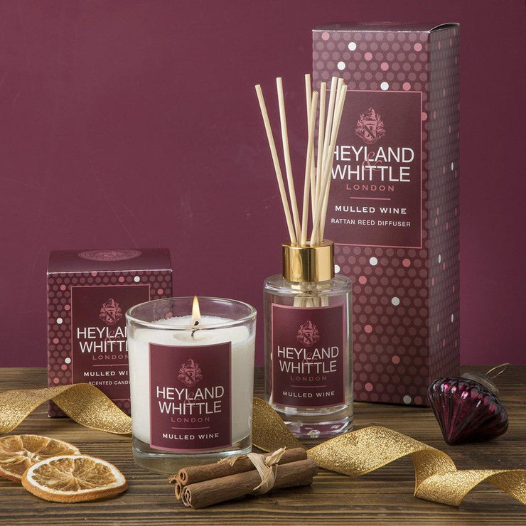 Mulled Wine scented Christmas candle by Heyland & Whittle - www.wicksandreeds.com