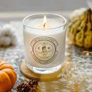 Amber, Cedarwood & Cocoa Bean Luxury Candle Hand Poured in Cambridge - www.wicksandreeds.com