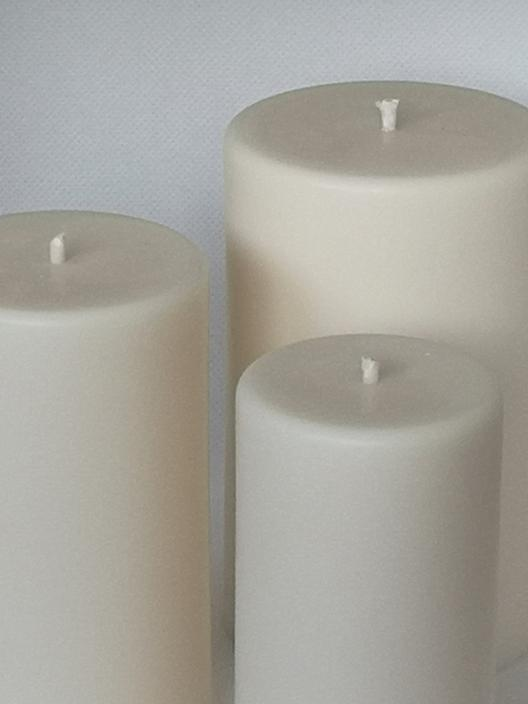 100% Vegan Rapeseed Pillar Candle - 3 sizes available