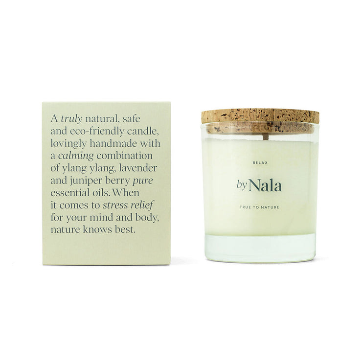 Relax - Natural Scented Candle - By Nala