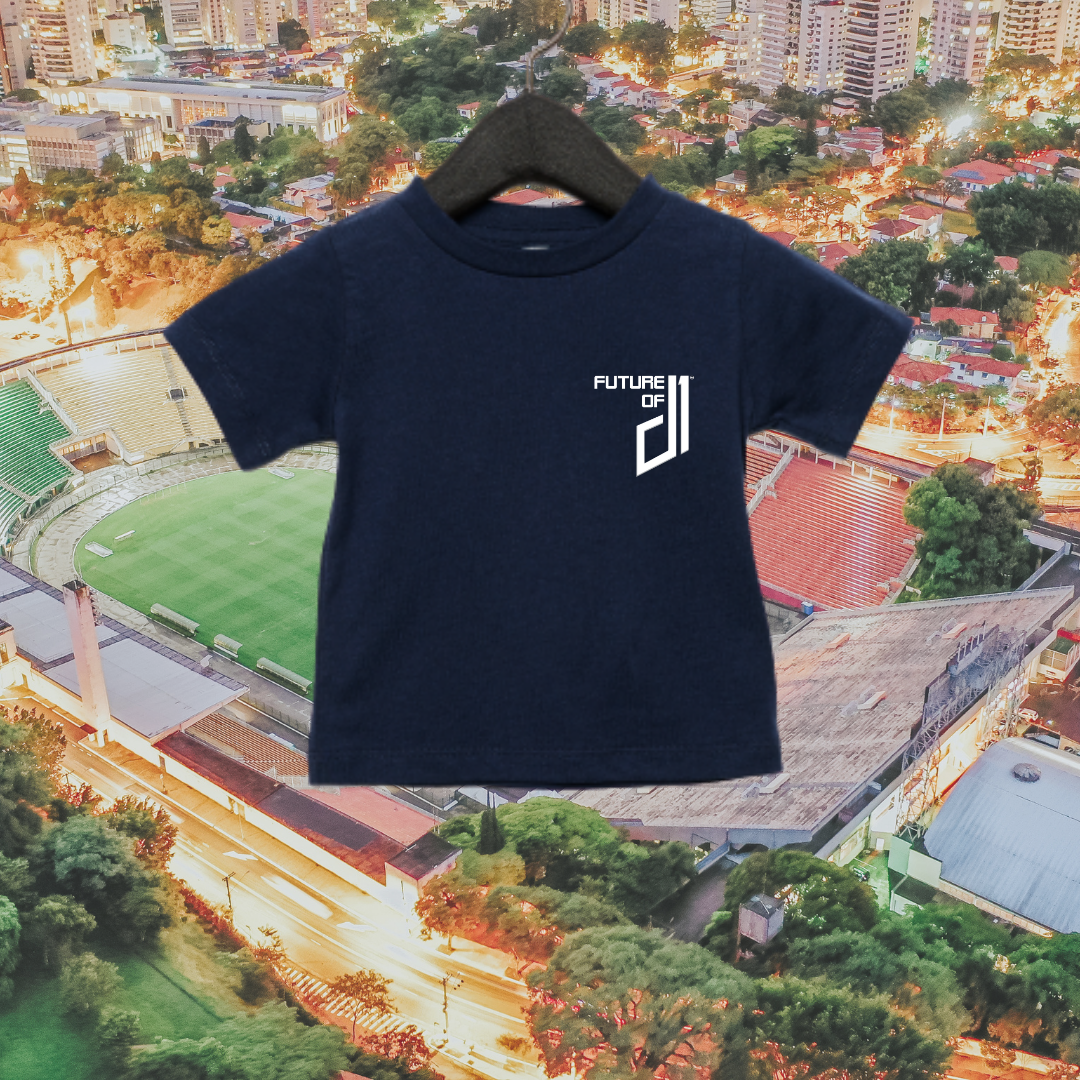 Future of D1 Kids T-Shirt with Pocket Logo in Navy