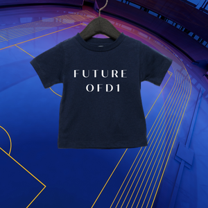 Future of D1 Kids T-Shirt with Spelled Out Logo in Navy