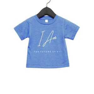 I AM the Future of D1 Kids Affirmation T-shirt in Light Blue