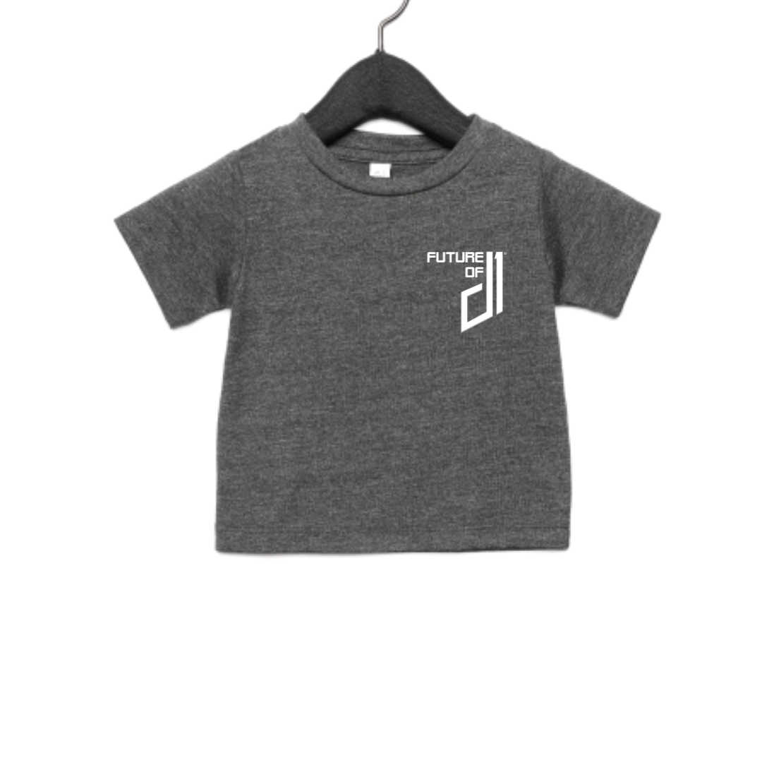 Future of D1 Kids T-Shirt with Pocket Logo in Grey