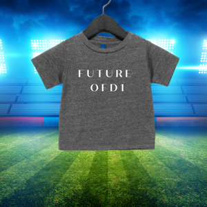 Future of D1 Kids T-Shirt with Spelled Out Logo in Grey