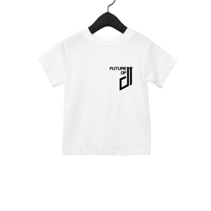 Future of D1 Kids T-Shirt with Pocket Logo in White