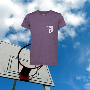 Future of D1 Kids T-shirt with Pocket Logo in Mamba (Heather Purple)