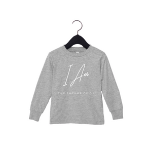 Future of D1 Kids Affirmation Long Sleeve T-shirt in Heather Grey