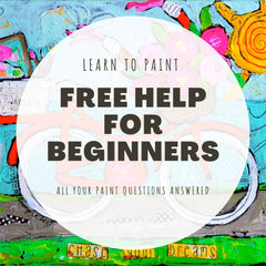FREE tips for beginner painters for acrylics