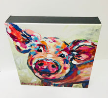 Load image into Gallery viewer, Happy Pig Canvas print