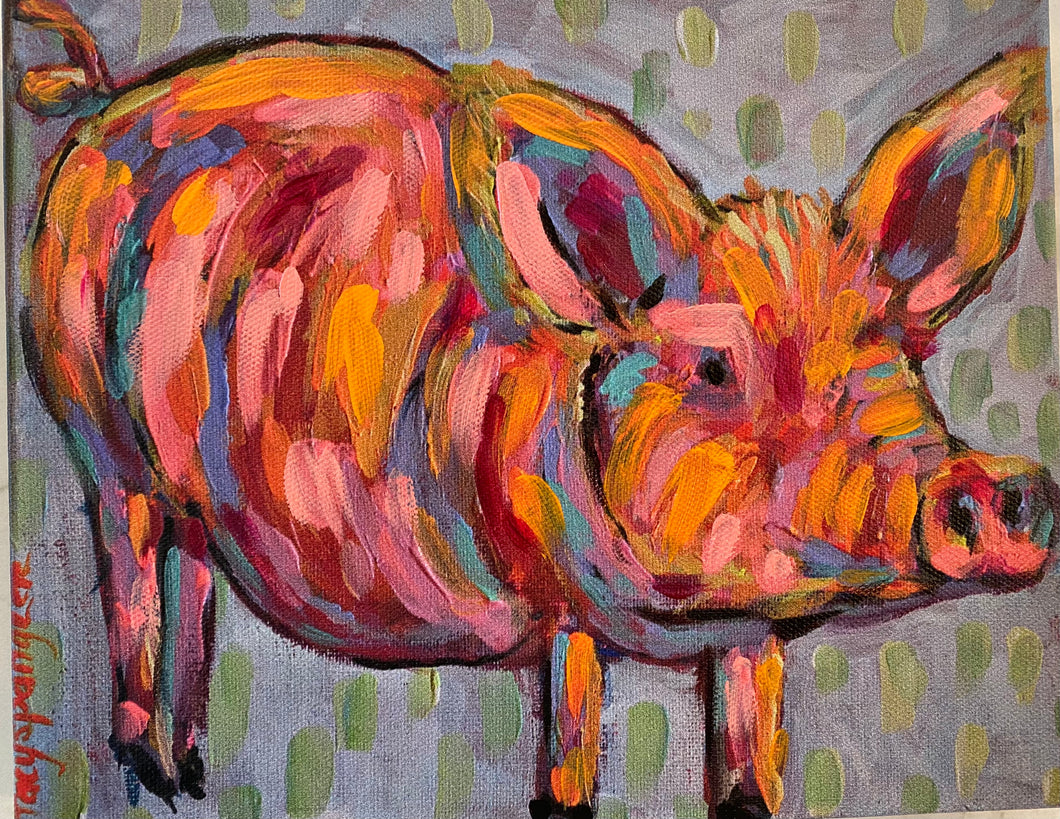Party Pig canvas print