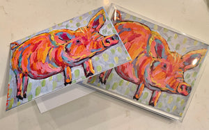 Party Pig Boxed Folded Notecards