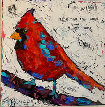 Load image into Gallery viewer, New Song Cardinal Canvas print