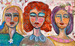 Girls Just Wanna Have Fun abstract art