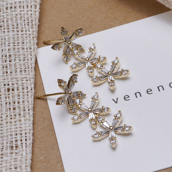 s925 Silver Flower Earring
