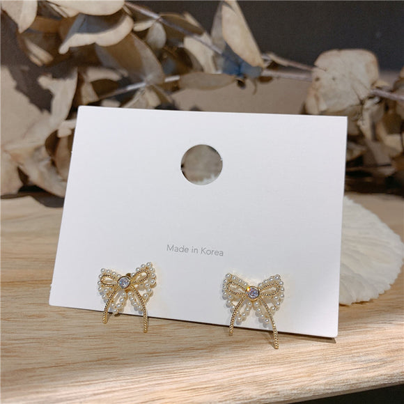 s925 Butterfly Bow Earring