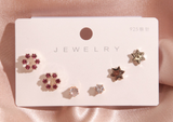 s925 Korean Cute Earrings
