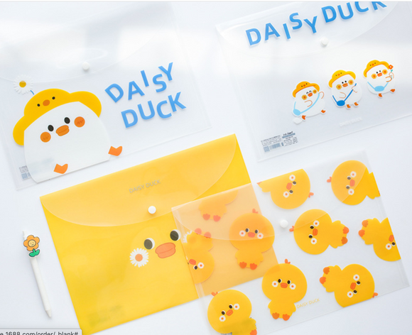 Korean Daisy Duck A4 Folder