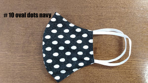 Face Mask-Navy/Ovals
