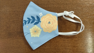 Face Mask-Light Blue with Floral