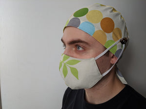 Scrub Cap with Face Mask