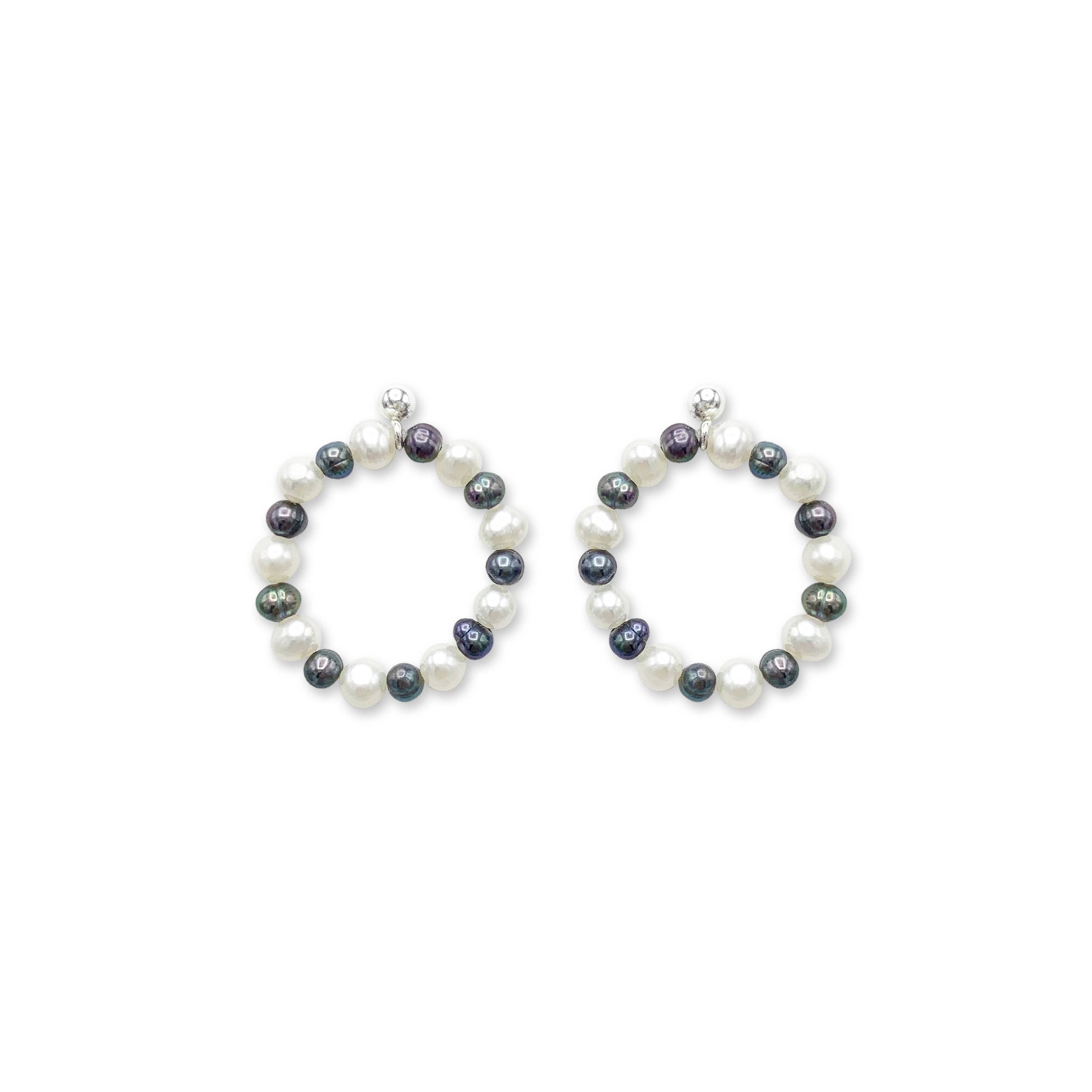 Freshwater Pearl bi-color earring
