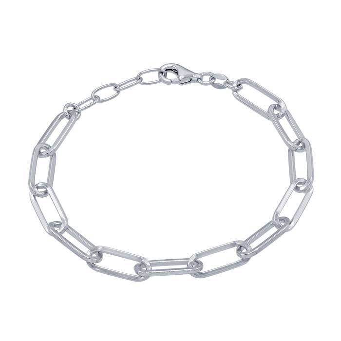 Sterling Silver Paperclip Chain Bracelet