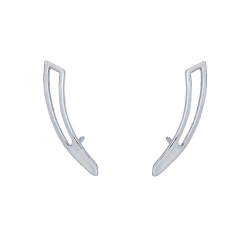 Sterling Silver Geometric Ear-Climber