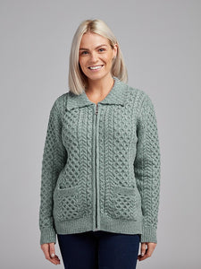 The Ballymore Aran Zip Cardigan
